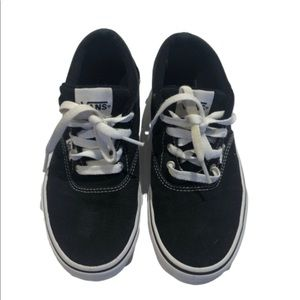 Vans size 4 youth black  canvas low tops
